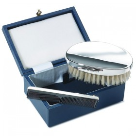 Piece Plain Brush and Comb Cased