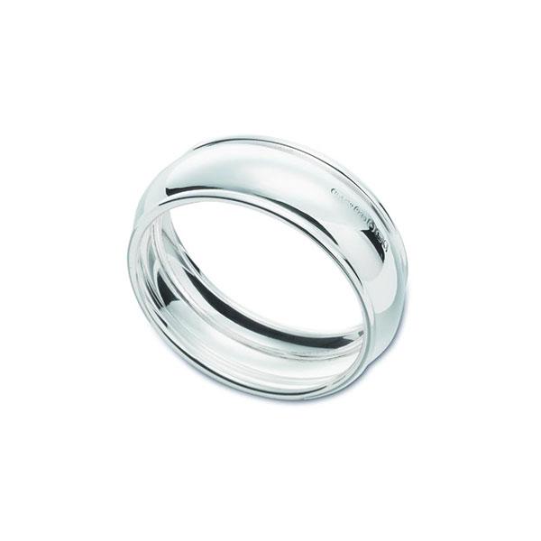 Hallmarked Silver Barrel Napkin Ring