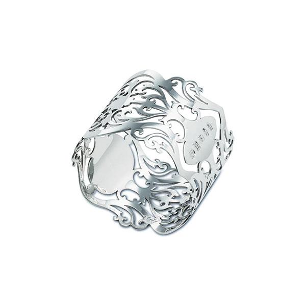 Hallmarked Silver Victorian Pattern Napkin Ring