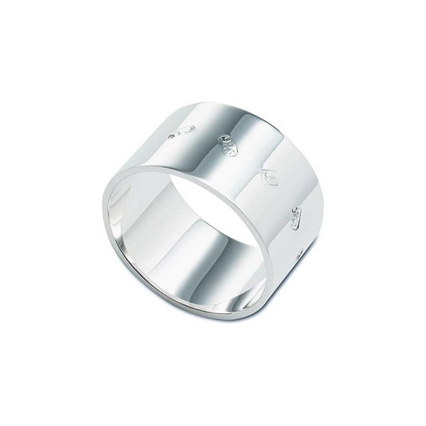 Hallmarked silver heavy weight napkin ring