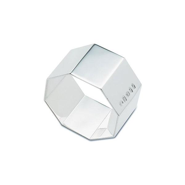 Hallmarked Octagonal Silver Napkin Ring