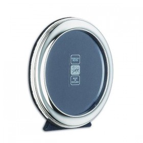Hallmarked Beaded Round Photo Frame