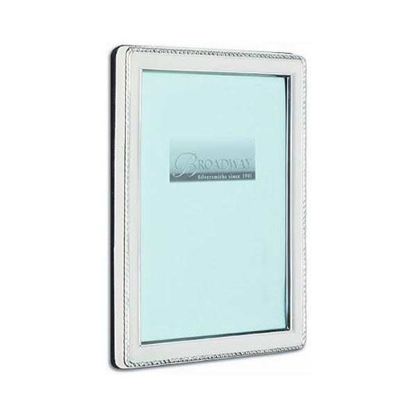 Hallmarked rectangualr rope border photo frame broadway Rope photo frame
